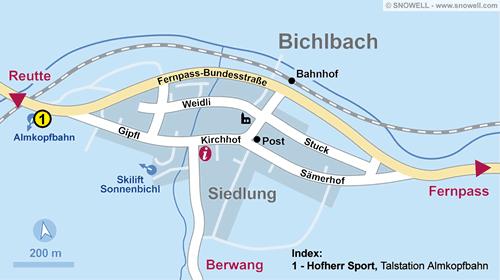 Plattegrond Bichlbach
