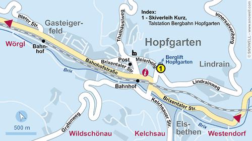 Plattegrond Hopfgarten im Brixental