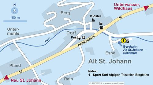 Plattegrond Alt St. Johann