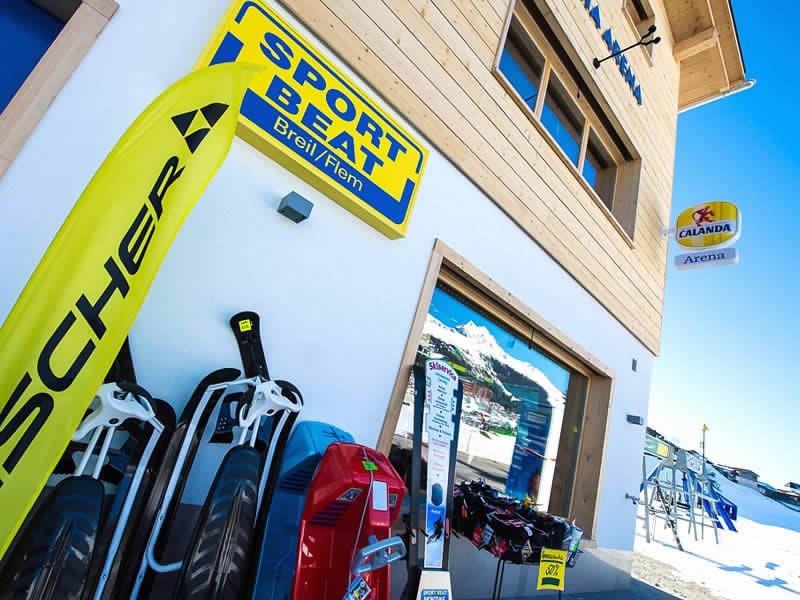 Skiverhuur winkel Sport Beat, Talstation Brigels - Plaun Rueun in Breil/Brigels