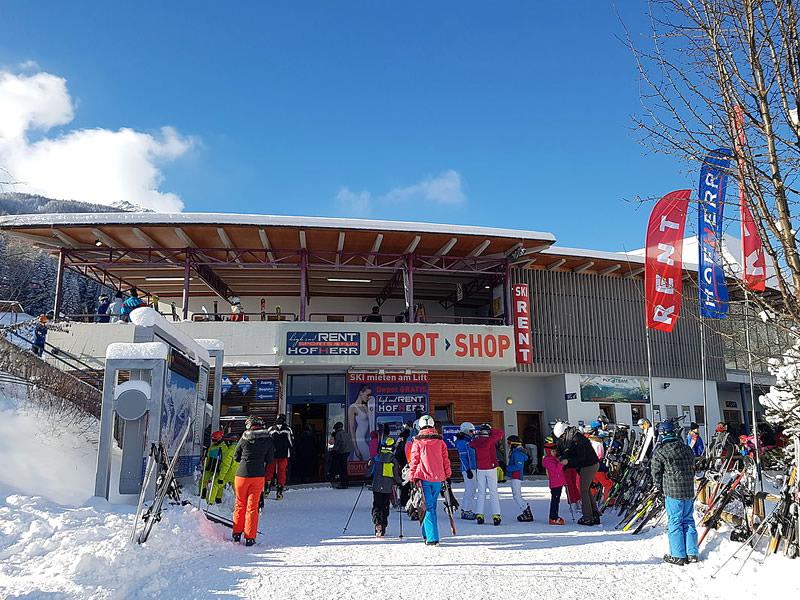 Skiverhuur winkel Hofherr Sport, Talstation Grubigsteinbahn - Juch 3 in Lermoos