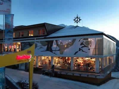 Skiverhuur winkel Sport Lentsch - Sport vor Ort, Arzl im Pitztal in Talstation Hochzeigerbahn Jerzens