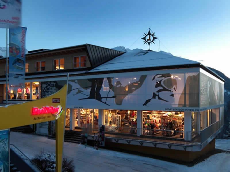 Skiverhuur winkel Sport Lentsch - Sport vor Ort, Talstation Hochzeigerbahn in Jerzens