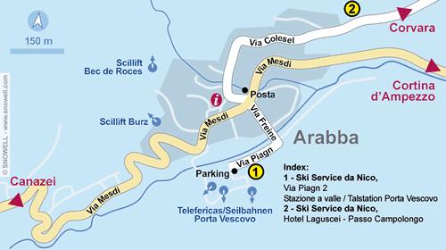Plattegrond Arabba