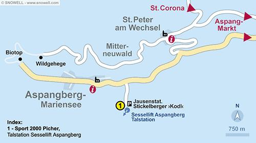 Plattegrond Aspangberg - St. Peter