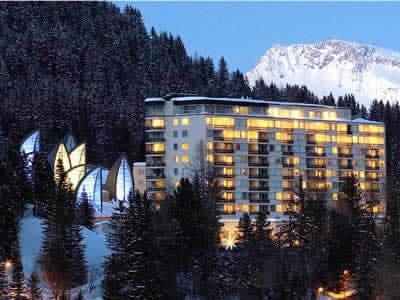 Skiverhuur winkel Gisler Sport, Arosa in Tschuggen Grand Hotel