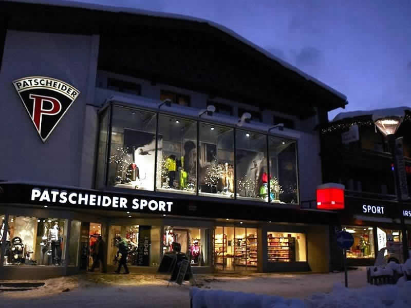Skiverhuur winkel Sport Patscheider, Untere Dorfstrasse 27 in Serfaus