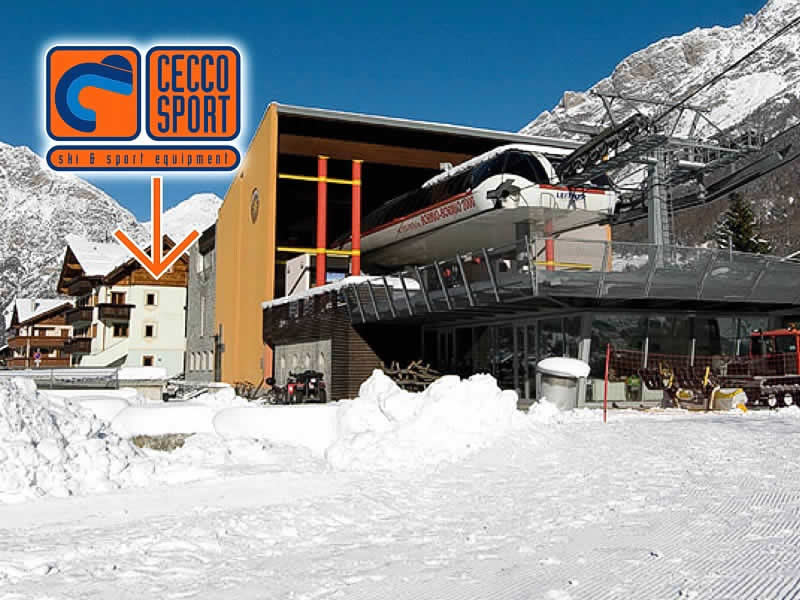 Skiverhuur winkel Cecco Sport, Via Battaglion Morbegno, 26 in Bormio