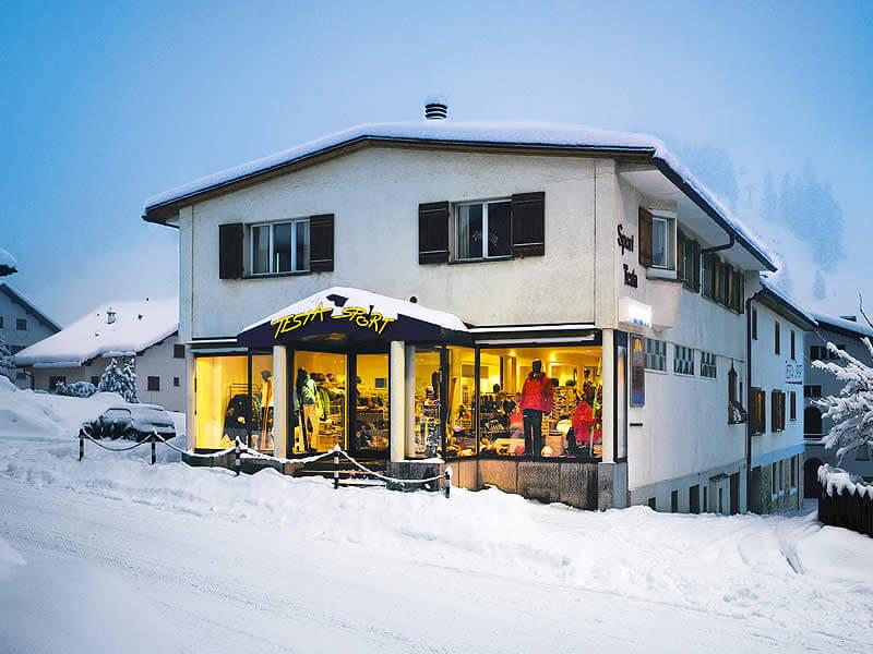 Skiverhuur winkel Testa Sport, Via Maistra 49 in Celerina