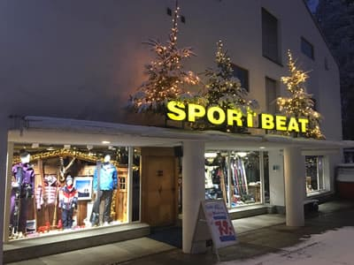 Skiverhuur winkel Sport Beat, Flims in Via Nova 49