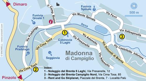 Plattegrond Madonna di Campiglio