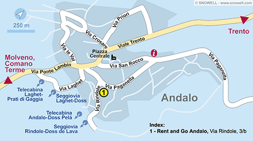 Plattegrond Andalo