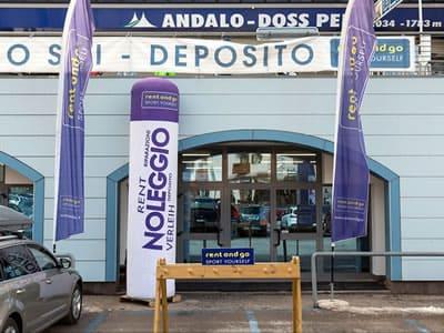 Skiverhuur winkel rent and go Andalo, Andalo in Via Rindole 3b (Talstation Kabinenbahn)