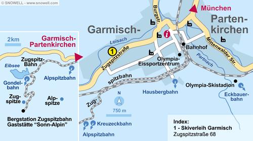 Plattegrond Garmisch-Partenkirchen