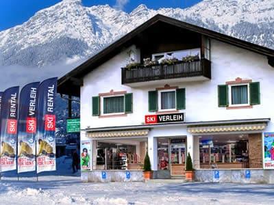 Skiverhuur winkel Skiverleih Garmisch, Garmisch-Partenkirchen in Zugspitzstraße 68